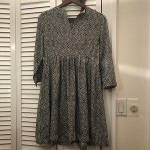 H&M black and white geometric print dress, 6